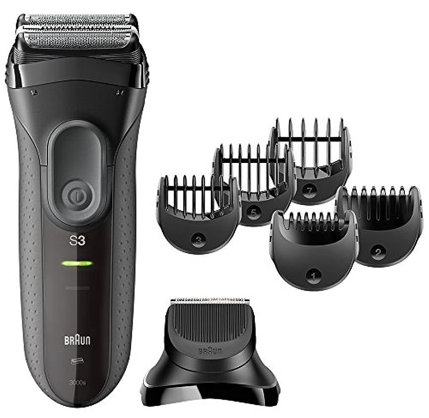 【Amazon.co.jp 限定】ブラウン メンズ電気シェーバー シリーズ3 3000s-BT 3枚刃 ヒゲトリマーアタッチメント付 水洗い可