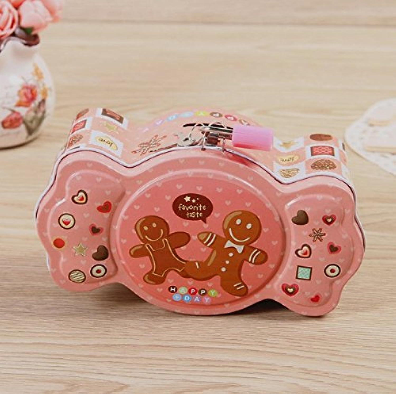 マネー バンク キャンディー型ピギーバンクマカロンカラーマネーバンクティンカン(ピンク)