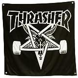THRASHER スラッシャー SKATEGOAT スケートゴート バナー 黒x白