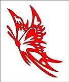 蝶 赤 カッティングステッカー ウォールステッカー ステッカー シール sticker 北欧 激安