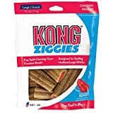 KONG - Ziggies - Teeth Cleaning Dog Treats - Chicken Flavour - Large (Best used with KONG Classic Rubber Toys)
