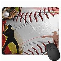 野球スポーツマウスパッド楽しいゲーミングマウスパッド、滑り止めマウスパッド