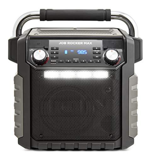 ION Audio 防水Bluetoothスピーカー 50時間バッテリー LEDライト付き コンセント端子付き スマホ充電可能 AM/FMラジオ ブラック Job Rocker Max