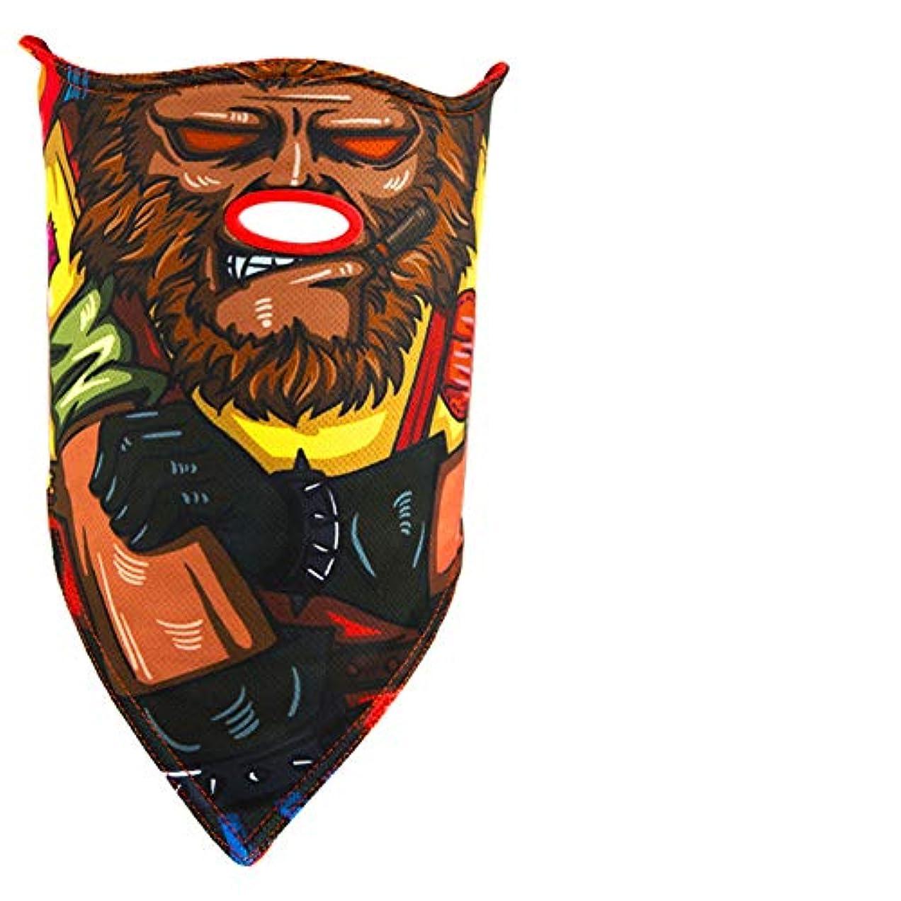 ライトニングベスビオ山良性スキーマスク成人男性と女性冬フリース防風暖かいシングルダブルボードスキー通気性の顔,B