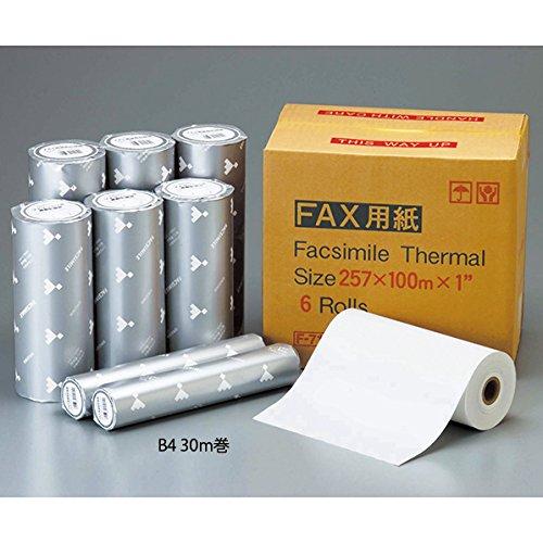 [해외]FAX 용지 B4 30m 권 심 1 인치/FAX paper B4 30 m core 1 inch