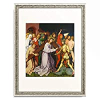ハンス・ホルバイン(父) Hans Holbein der Ältere 「High Altar of the Dominican Church of Frankfurt: Christ bearing the cross. 1501」 額装アート作品