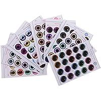 Prettyia 紙製 ドール 目 チップ パターン UV接着剤なし 12インチブライス人形適用 修理用 合計9枚 全2種類選ぶ - 02