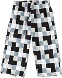 (ヘインズ)Hanes 綿ブロードマルチブロックプリント7分丈トランクス 19-535 090 ブラック M