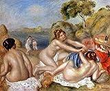 手描き-キャンバスの油絵 - three bathers ピエール=オーギュスト・ルノワール 芸術 作品 洋画 ウォールアートデコレーション APR3 -サイズ05