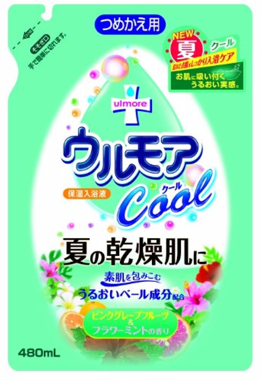 カウンタフェッチに対処するアース製薬 保湿入浴液ウルモアクール 替 ピンクグレープフルーツ&フラワーミントの香り 480mL