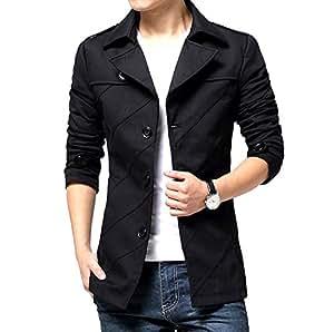 (メイク トゥ ビー) Make 2 Be スタイリシュ メンズ ジャケット 秋 冬 先取り テラード ジャケット テラジャケ コート MA02 (00.ブラック_Mサイズ)