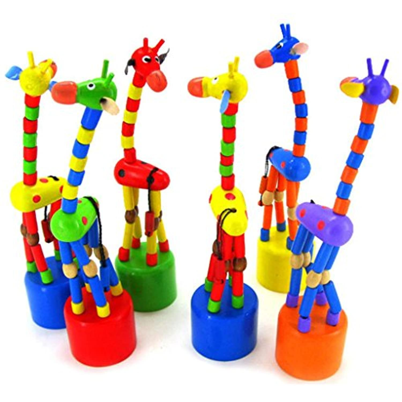 おもちゃ、子供yasalu DancingスタンドカラフルRockingキリン木製インテリジェンスおもちゃ