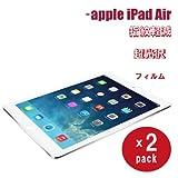 【riseオリジナル】apple au softbank iPad Air専用 超光沢指紋軽減 良質素材を使用した3層コーティング 光沢タイプ液晶保護フィルム iaf (2枚パック)