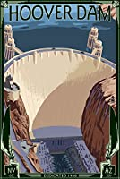 Hoover Dam aerial 16 x 24 Giclee Print LANT-31845-16x24
