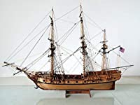 【】 米国 ガラガラヘビ 1782 1/50スケール 船 帆船 ボート ヨット 木製 模型 モデルキット プラモデル キット 組み立て式