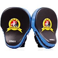 Chariot Trading – 1pieces /ロット。ムエタイMMAボクシンググローブSandbagパンチパッド手ターゲットフォーカストレーニング円形Mitts for Kick Fighting – cj-bg-spt-000365