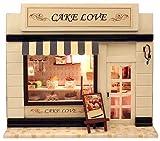 本格ライトアップ ミニチュア ドール ハウス ケーキ屋さん プレゼントにおすすめ