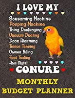 Monthly Budget Planner: Monthly Weekly Daily Budget Planner (Undated - Start Any Time) Bill Tracker Budget Tracker Financial Planner for Sun Conure Parrot Bird Owners and Lovers