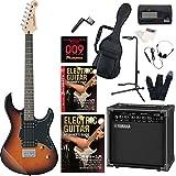 エレキギター ヤマハ PACIFICA120H ヤマハアンプ GA15II 付属 入門15点セット 教則DVD付 初心者セット ハムバッキング トレモロレス (TBS)