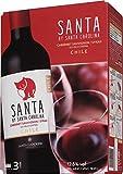 【チリの名門ワイナリーが作る、リッチな味わいのテーブルワイン】チリワイン サンタ バイ サンタ カロリーナ カベルネ・ソーヴィニヨン/シラー バッグインボックス 3L