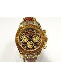 ロレックス ROLEX デイトナ レパード 116598SACO レパード文字盤 メンズ 腕時計 【中古】