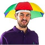 (カバーユアヘア)CoverYourHair カラフルな傘帽子 - おかしいカラフルな傘ハット 【インポート】