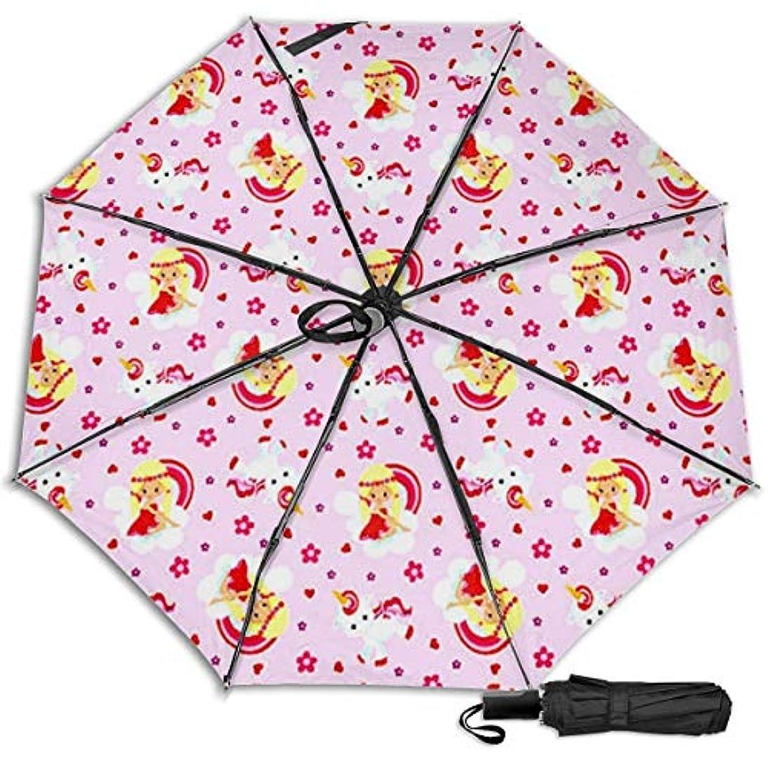 実施する憲法愛人ユニコーンプリンセス日傘 折りたたみ日傘 折り畳み日傘 超軽量 遮光率100% UVカット率99.9% UPF50+ 紫外線対策 遮熱効果 晴雨兼用 携帯便利 耐風撥水 手動 男女兼用