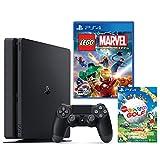 PlayStation 4 ジェット・ブラック 500GB + LEGO(R)マーベル スーパーヒーローズ ザ・ゲーム + New みんなのGOLF ダウンロード版【Amazon.co.jp限定】オリジナルカスタムテーマ配信
