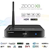 Docooler Zidoo X8 Smart Android 6.0 TV Box OpenWRT(NAS) Realtek RTD1295 Quad Core 2G / 8G Dual-Band WiFi 2.4G / 5GHDMI IN Streaming Media Player [並行輸入品]