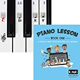 Piano and Keyboard Stickers and Complete Piano Music Lesson and Guide Book; Designed and Printed in USA