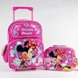 "おもちゃ Minnie ミニー Mouse Sparkle Girls 16"" inches Large Rolling Backpack & Lunch Box for School [並行輸入品]"