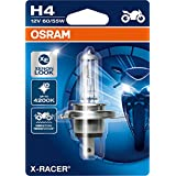 OSRAM 64193XR-01B X-RACER H4 Halogen, Motorcycle Headlamp, Single Blister, Set of 1