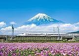 500ピース ジグソーパズル れんげの花と富士山(静岡) (38x53cm)