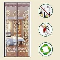 魔法のステッカー 磁気スクリーンドア,夏のフルフレーム 磁気のフライ スクリーン ドア 蚊を保持 -p 99x205cm(39x81inch)