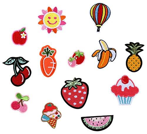 (デイリー スウィート)Daily Sweet バッジ ワッペン 刺繍デコシール お祝い 入園 入学 飾り素材 果物 野菜シューズ 13枚セット