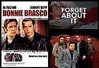 古いTin Sign MovieポスターDonnie Brascoポスターコラージュ