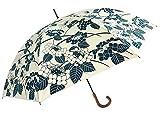 遮光・UVコーティング傘 (晴雨兼用)[UV 百花涼藍] 紫陽花 JK-97