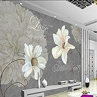 Wuyyii 写真の壁紙カスタム壁画の壁紙アート標本花リビングルーム写真装飾背景-280X200Cm