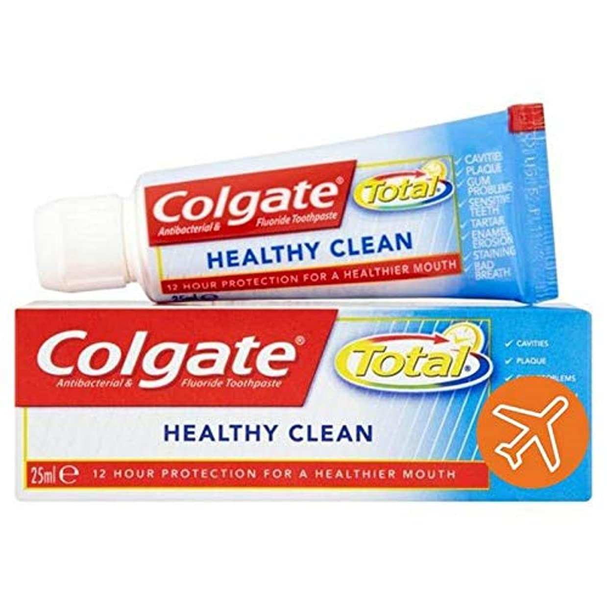 監査打撃改善[Colgate ] コルゲートトータル健康クリーントラベルサイズの歯磨き粉25ミリリットル - Colgate Total Healthy Clean Travel Size Toothpaste 25ml [並行輸入品]