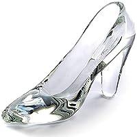 TEATSIGHT ガラスの靴 透明 ガラス製 ハイヒール 彫刻 メッセージ入り (A-03)