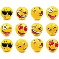 Emoji ユニバース膨らませるビーチボール プールパーティーのお土産 ビーチおもちゃ 競争力のあるスポーツと楽しみ 屋内&屋外 12インチ 12個セット