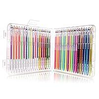 オフィスメ-カ (OM) 水彩ペンカラーペン 高品質 グリッター、ネオン、パステル三種類合計36色 塗り絵用 賀状用