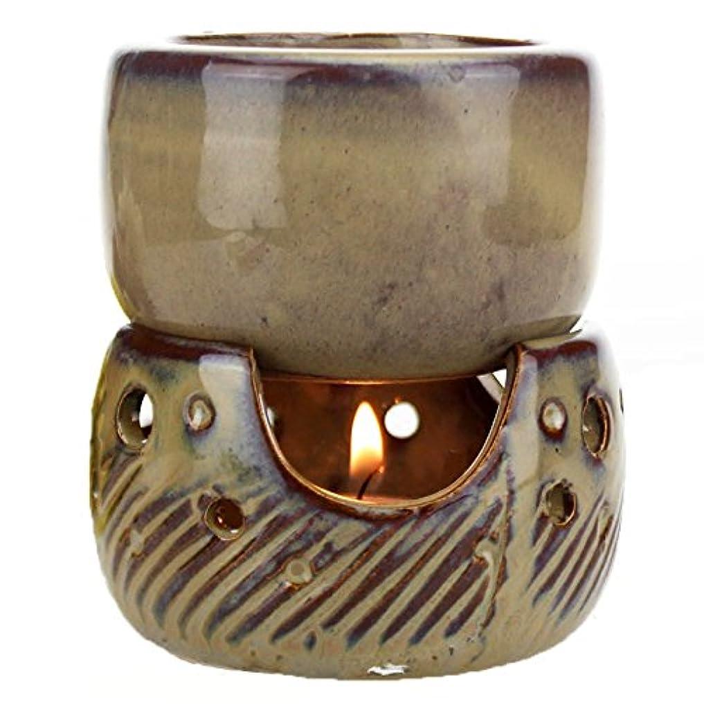 麺部門暫定のfunnytoday365タイスタイルレトロ分割Multipurpose Aroma Burner Oil Candle incensoryホテルSpaアロマセラピーランプ