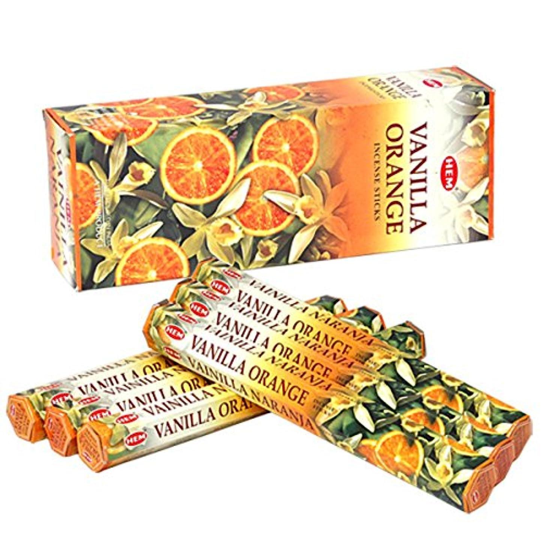 泥だらけ眠いです解任HEM(ヘム) バニラオレンジ VANILLA ORANGE スティックタイプ お香 6筒 セット [並行輸入品]