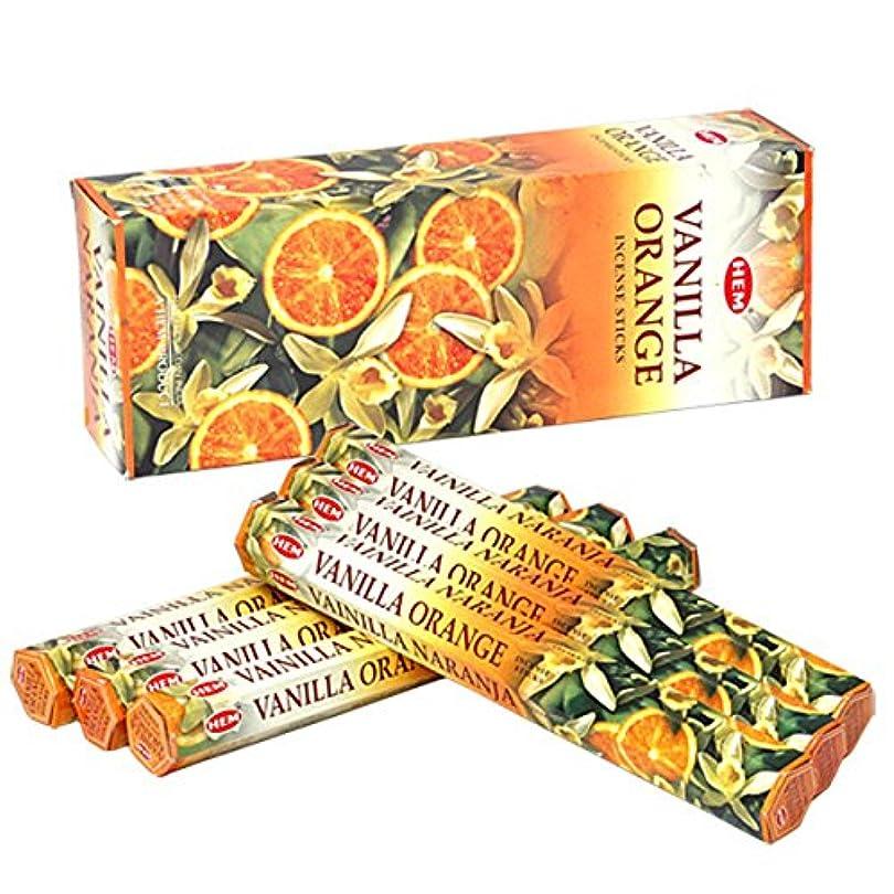 コンバーチブル溶ける政策HEM(ヘム) バニラオレンジ VANILLA ORANGE スティックタイプ お香 6筒 セット [並行輸入品]