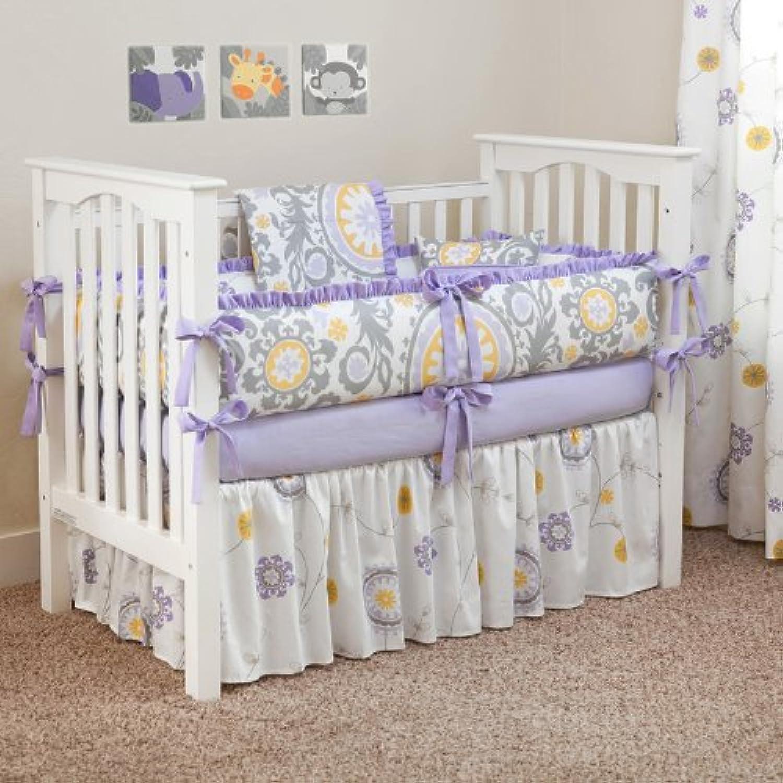CUSTOM BOUTIQUE BABY BEDDING - Suzani Lavender - 5 Pc Crib Bedding Set by Sofia Bedding