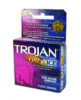 TROJAN FIRE & ICE CONDOMS DUAL ACTION LUBRICANT by Trojan Condoms