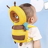 Asiso 赤ちゃん 頭保護 転倒防止 リュック ヘッドガード メッシュ 極厚クッション 出産祝い メッシュ ミツバチ