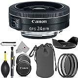 Canon EF - S 24mm f / 2.8STMレンズ9522b002USAフルアクセサリーPancakeバンドルパッケージDeal