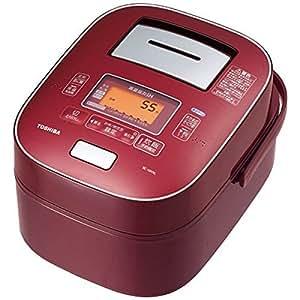 東芝 5.5合炊き 炊飯器 IHジャー炊飯器 真空圧力IH 鍛造かまど本丸鉄釜 RC-10VXL-RS ディープレッド